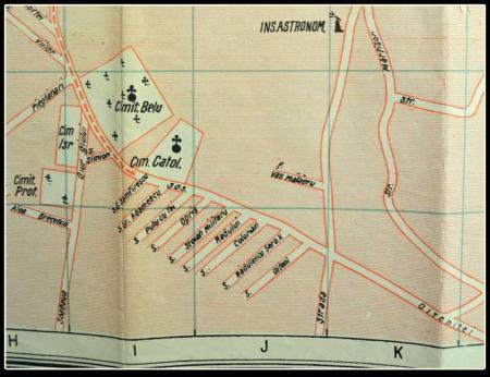 Sursa foto: Planul Orașului București cu indicatorul alfabetic al străzilor, ediția 1926, Editura Librăriei Union